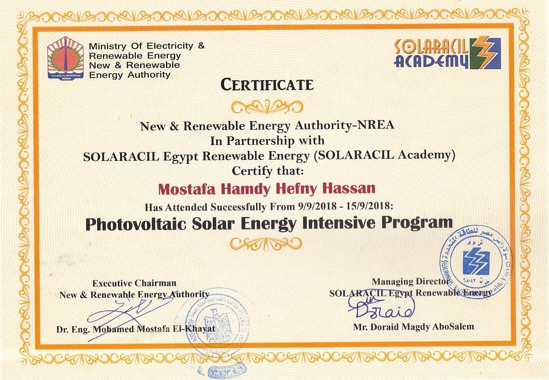 دورة تأهيلية لتصميم أنظمة الطاقة الشمسية